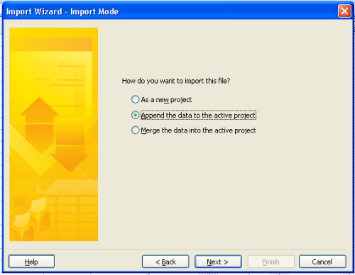 Import Excel Into Microsoft Project - Import Wizard