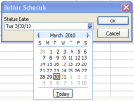 Figure 4 - Behind Schedule filter Late Task Filter Microsoft Project