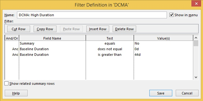 Microsoft Project Tutorial: Create Custom Filters with MS Project