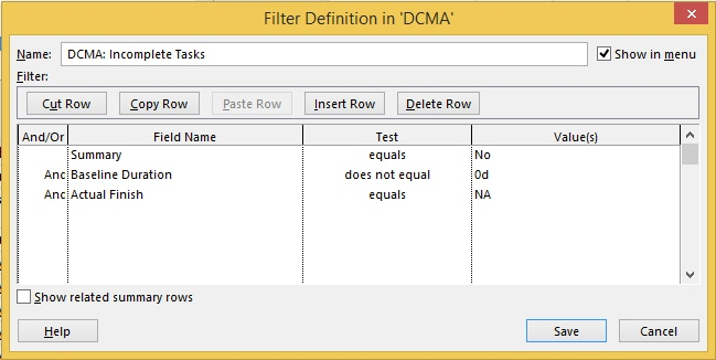 Microsoft Project Tutorial Create Custom Filters with MS Project 2013