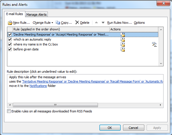 outlook email management