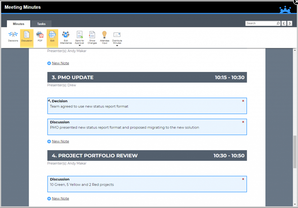 best meeting minutes software solutions for project managers