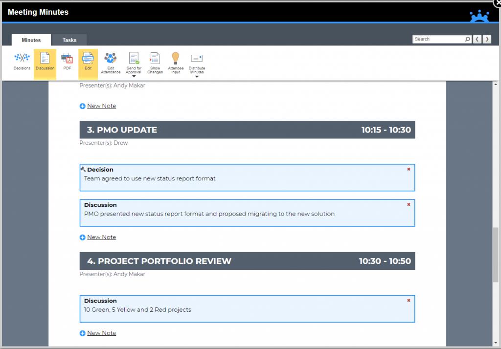 MeetingBooster Minutes Report