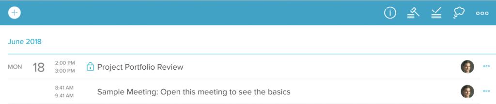 Minute meeting agenda
