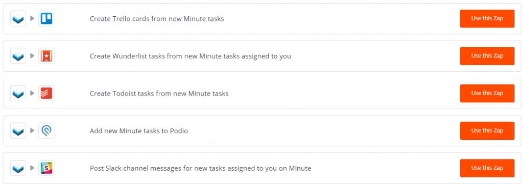Meeting Minues Software Zapier Integration
