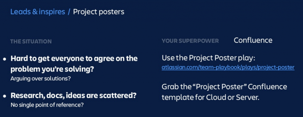 Atlassian Summit Create a Project Poster Confluence