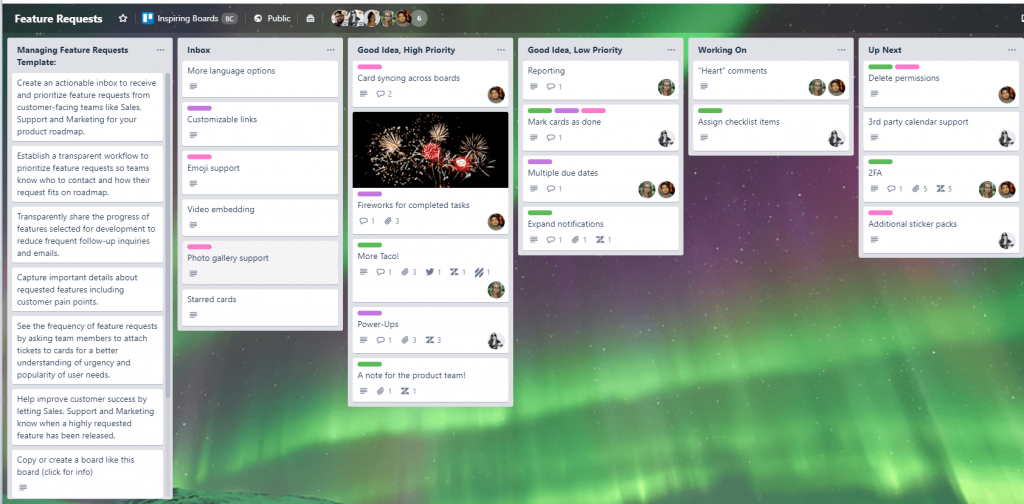 Atlassian Summit Trello Board Feature Requests