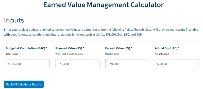 earned value management simulator