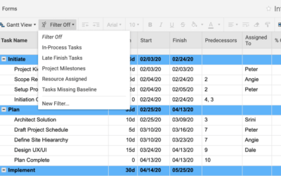 Five Smartsheet Filters You Can Use