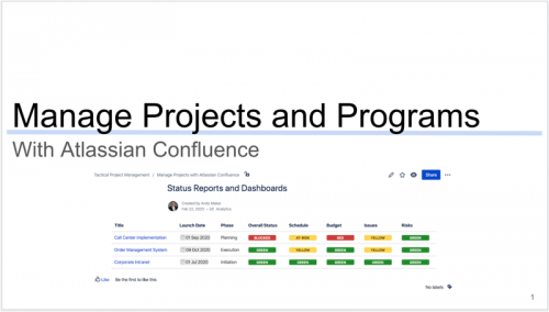 Atlassian Confluence training