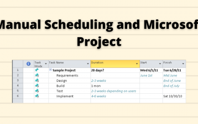 Microsoft Project Tutorial: User-controlled scheduling with Microsoft Project