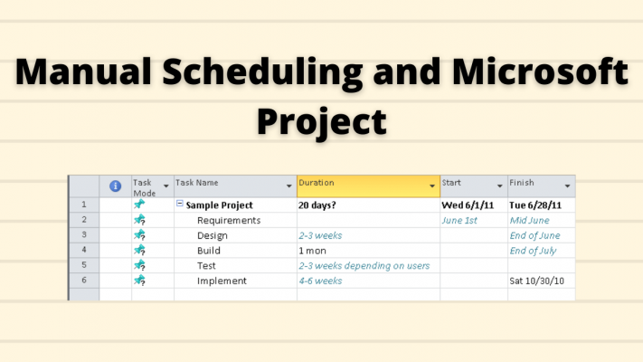 manual scheduling microsoft project