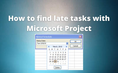 Microsoft Project Tutorial: Finding Late Tasks with Microsoft Project Custom Filters