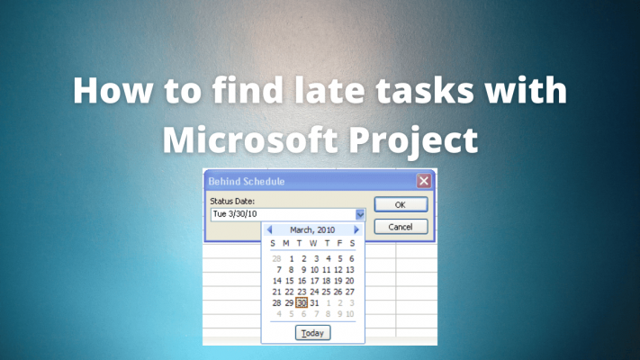 microsoft project late takes