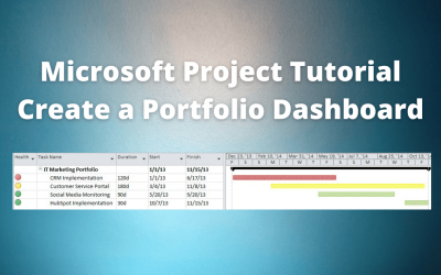 Microsoft Project Tutorial : Create a Portfolio Dashboard