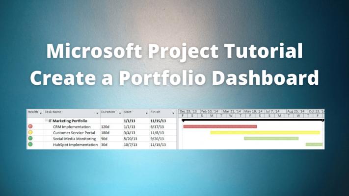 microsoft project dashboard