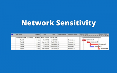 Microsoft Project Tutorial: Network Sensitivity and the Critical Path
