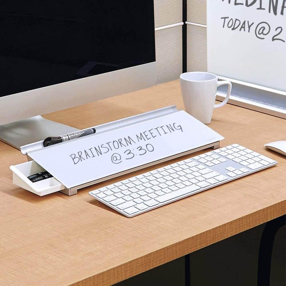 desktop glass white board